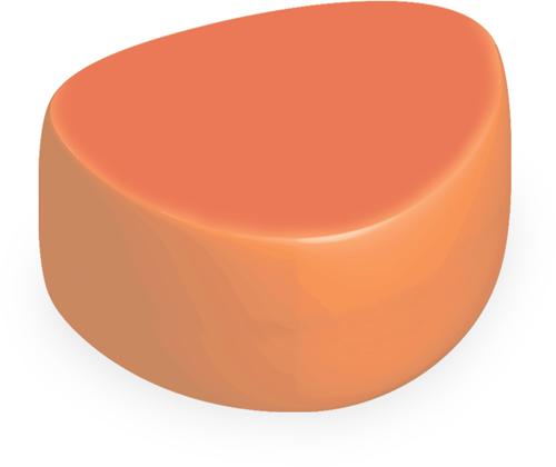 Plectrum poef klein Ø400 x H400 mm - oranje
